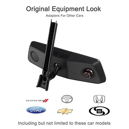 X1PRO Rear View Mirror Dash Cam 9.88'' Full Touch Screen Dual Lens with 1296P Front and 720P Super Night Vision Stream Media Backup Camera kit, WDR,LDWS, GPS Tracking,Auto-Brightness Adjusting by AUTO-VOX (Image #8)