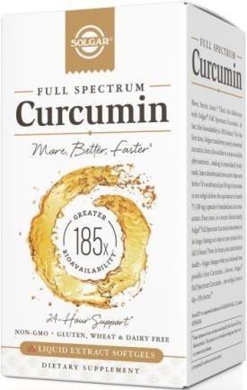 Solgar - Full Spectrum Curcumin Liquid Extract, 90 Softgels
