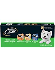 CESAR Classic Loaf in Sauce Wet Dog Food Chicken Lovers Variety Pack, 8 Grilled Chicken Flavour, 8 Chicken & Liver Recipe, 8 Chicken & Veal Recipe 24x100g Trays