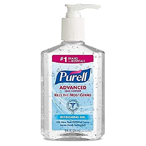 Purell Advanced Hand Sanitizer Gel With Pump 8 Oz Amazon In