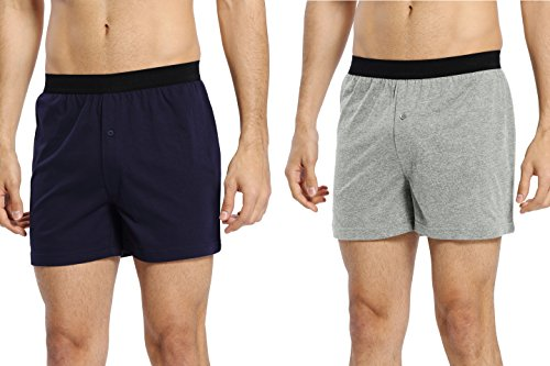 (CYZ Mens 2-Pack 100% Cotton Knit Pajama Bottoms - Sleep/Lounge)