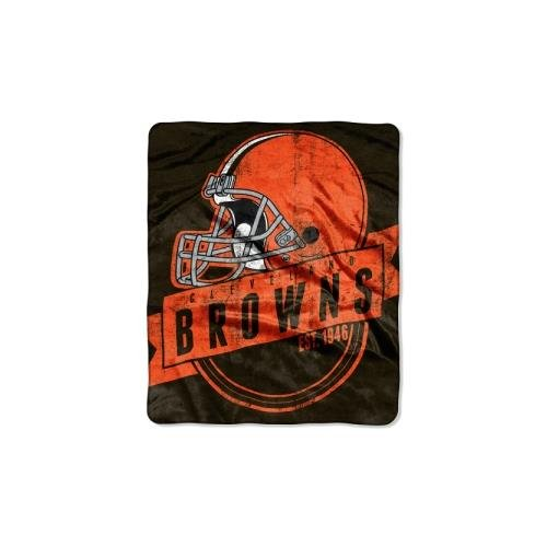 The Northwest Company Officially Licensed NFL Cleveland Browns Grand Stand Plush Raschel Throw Blanket, 50