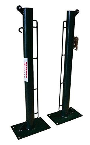 Softee Equipment 0012323 Juego Postes Fijos, Blanco, S
