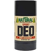 Sam's Natural Deodorant Stick - Sport, Aluminum Free, Vegan, Cruelty Free, 3 oz