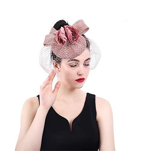 Bow Fleur Party Cheveux Pince De Fascinator Ascot Avec Vintage Net Tea Cocktail Mariage Femme À Chapeau Sinamay Cvbndfe Lunettes Pour Royal Cas Charmant OwAqI0x1