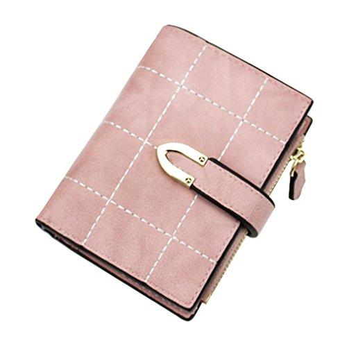 Porte Pink Mode De Monnaie Portefeuille Cartes Petit Portefeuille Zipper Fermoir Femelle Pour Haoling Portefeuille Les Femmes Femmes Court Porte wHaxqUHfY