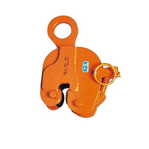 日本クランプ 縦吊り専用クランプ WRAタイプ ラッチ式ロック装置付 軽量鋼矢板引抜き専用 WRA3 使用荷重 3t 使用有効寸法 3~20mm コT【代不】 B06XMXBMYB