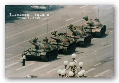 Tiananmen Square Tank Man (Color) 36x24 Art Print Poster by Studio B Tank Man Tiananmen Square