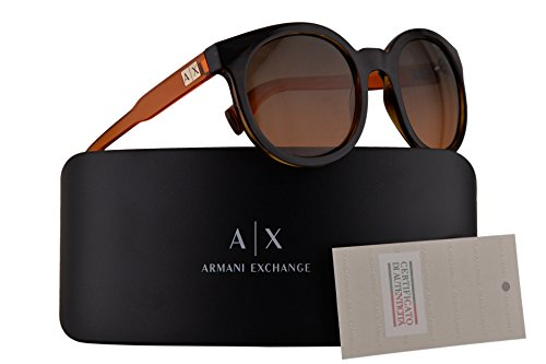 Armani Exchange AX4057S Sunglasses Tortoise w/Orange Gradient Light Grey 53mm Lens 820895 AX 4057S - Exchange In Sunglasses Armani China Made