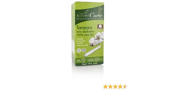 Silver Care - Tampón de Algodón Bio Super con Aplicador ...