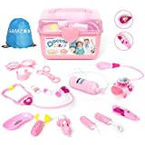 GAMZOO Doctor Kit for Girls and Boys-15 Pcs Medical Kit Pretend Play & Dress Up Toy for 3,4,5,6 Year Old Kids with Electronic Stethoscope Deluxe Birthday Gift for Children Age 3-6