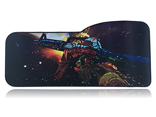 "41FzRB3zdKL - Extended Size Custom Gaming Mouse Pad - Anti Slip Rubber - Stitched Edges - Large Desk Mat - 28.5"" x 12.75"" x 0.12"""