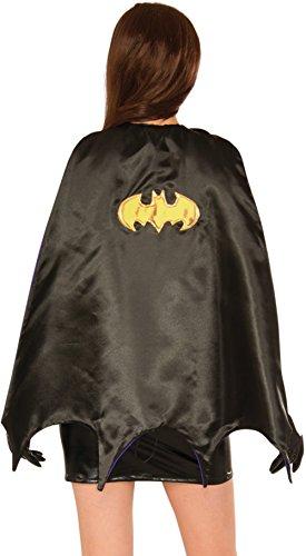 Adult Authentic Batgirl Costumes (Delicious Women's Batgirl Deluxe Cape, Black/Purple, Standard)