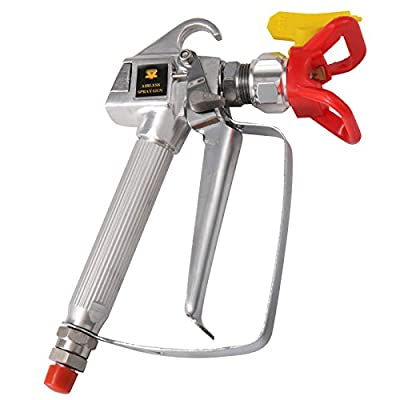 Airless Paint Spray Gun, OPACC Pressure No Gas Sprayer 3600 PSI with Switch TIP Swivel Joint, Compatible to a Variety of Piston Pump Sprayers