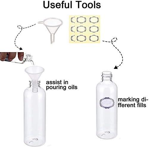 Lot de 5 flacons de pulv/érisation transparents /à brume fine en plastique de voyage pour petite bouteille portable rechargeable