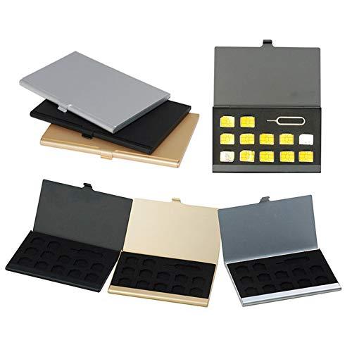 Vranky 3 Colors 3PCS Nano SIM Cards Holder Aluminum Case Bag Storage - Case Nano Sim