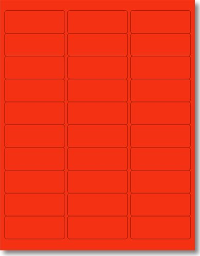 amazon com 600 label outfitters 1 x 2 5 8 fluorescent neon red