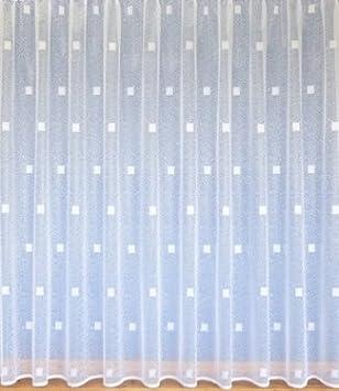 Weißer Vorhang Gardine Abstraktes Muster Viele Größen Erhältlich