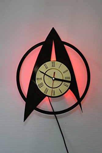 Series Wall Lamp - DECOR FOR HOME The Starfleet Star Trek Science Fiction TV Series Design 4 Wall Lamp - Original Design - Wall Clock - Vintage Unique Home Wall Decor - Perfect gift for Him and Her