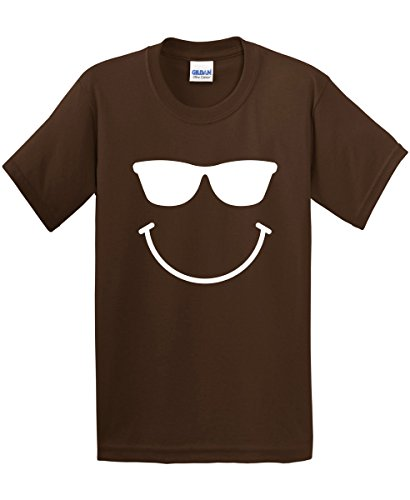 Sunglasses Smiley Face Emoticon Sarcastic Humor Novelty Graphic Funny T Shirt M - Best Guys Looking For Sunglasses