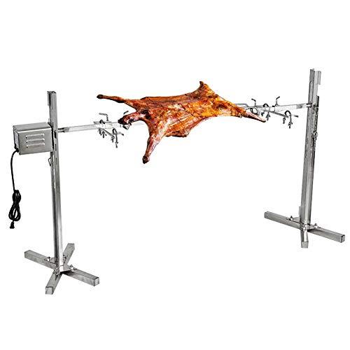 Rbay 40W BBQ Grill Rotisseries Kit, 60-90Lb Electric Grill Universal Rotisserie Kit for Pig Rotisserie Hog Lamb