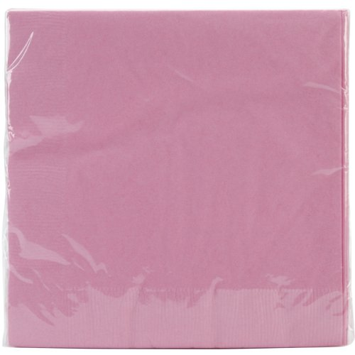 Creative Converting Table Needs, Touch of Color 2-Ply Paper Lunch Napkins, Party Supplies, Candy Pink, 6.5