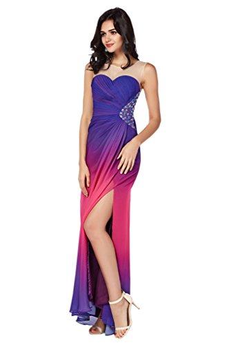 Festkleid Partykled Abendkleid Violett Promkleid Chiffon Ivydressing Damen Beliebt C 7qw4nBt