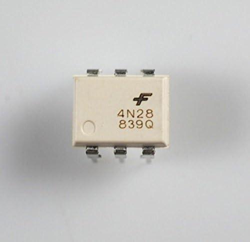 5Pcs 4N25 6Pin Optoisolators Transistor DIP New