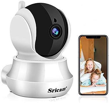 Opinión sobre Sricam Cámaras de Vigilancia WiFi Interior 1296P, Cámara IP Intercomunicador bidireccional, Visión Nocturna, Detección de Movimiento, Monitor para casa, bebé y Mascotas, Compatible con iOS Android