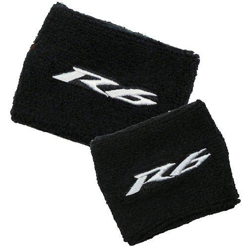 (Yamaha R6 Black/Gray Brake/Clutch Reservoir Cover by MotoSocks Set Fits YZF-R6, R6)