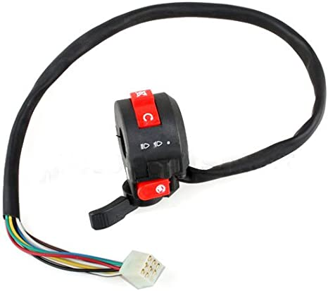 TC-Motor 12 Wire 5 Function Handle Control Switch Assembly With Choke Lever For Chinese Quad 4 Wheeler ATV 110cc 125cc 150cc 200cc 250cc