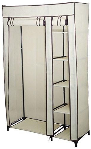 Ruck Und Fünf Kleiderschrank Ablagefächern Mit Mobiler Kleiderstange nOkw80PXN