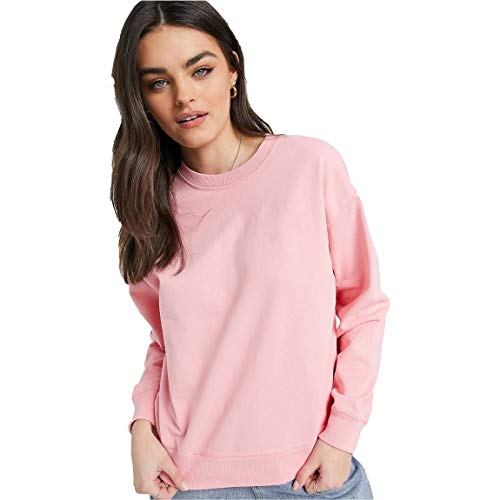 Be savage Plain Pink Sweat-Shirts for Girls and Women