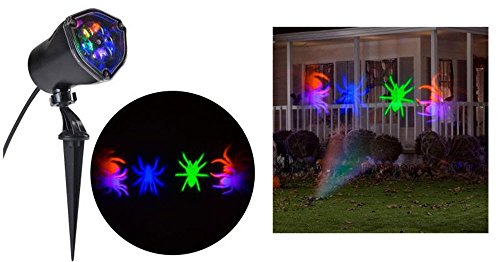Halloween Multi Color Whirl-a-Motion Spider Projection Stake Light for Halloween, Parties!]()