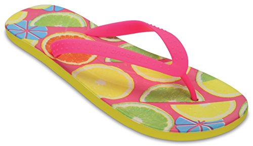 Crocs Chawaii Fish, Sandalias Flip-Flop Unisex Adulto Amarillo (Lemon)