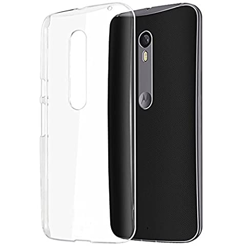 Moto X Pure Edition Case,BIUZKO Scratch Resistant Hybrid Clear Protective Case / Cover with TPU Bumper for Motorola Moto X Style 2015 Release (Motorola X Clear Cover)