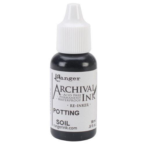 Ranger Wendy Vecchi Designer Series Archival Re-Inkers, 0.5-Ounce, Potting (Archival Waterproof Dye Ink Pad)