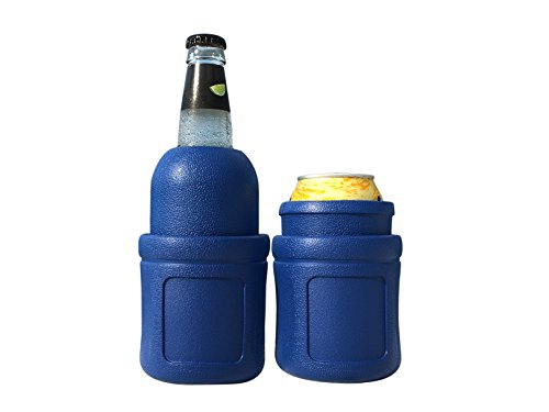 (Monster Cooler Beverage - Can and Bottle Holder Traps Frigid Air, Keeps Drinks Cold for Hours - Soft, Lightweight and Virtually Indestructible - Convenient, Easy to Clean - Premium Quality)
