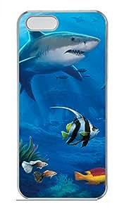 Submarine World Shark Customized Popular DIY Hard Back Case Cover For iPhone 5 5S Hard Transparent