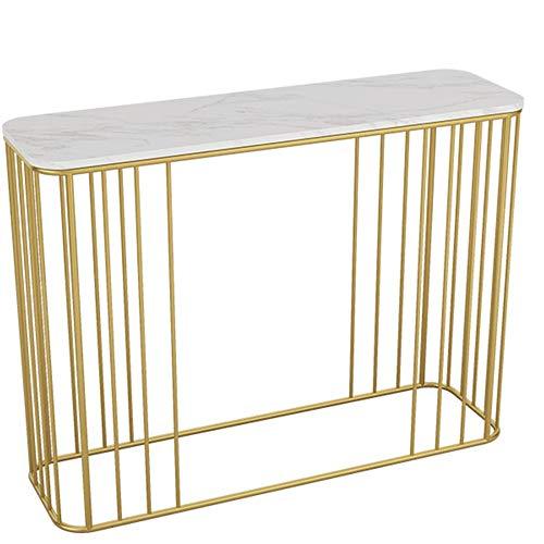 Amazon.com: HANSHAN Mesa auxiliar consola de mesa, marco de ...