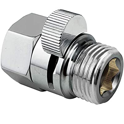 PIH Shower Volume Control Valve, Shut-Off One Piece Copper Brass Made, 1/2'' Standard Connection, Chrome Polished
