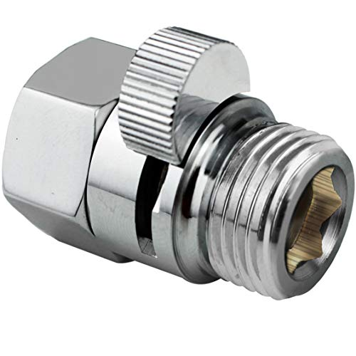 PIH Shower Volume Control Valve, Shut-Off One Piece Copper Brass Made, 1/2'' Standard Connection, Chrome Polished