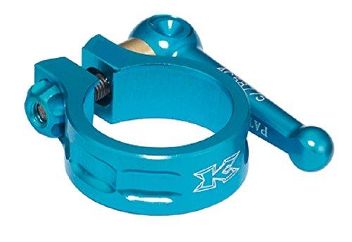 Price comparison product image KCNC SC10 QR Clamp SeatPost 34.9 mm 7075 AL 6/4 Ti axle Blue Road Bike MTB