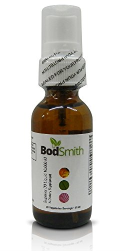 BodSmith Superior D3 Liquid 10,000 IU Professional grade Premium Quality supports bone health, calcium balance, immune system modulation, healthy cell growth and cardiovascular function.*