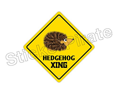 Hedgehog Crossing Metal Sign