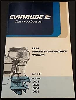 evinrude 9.9 hp outboard motor manual
