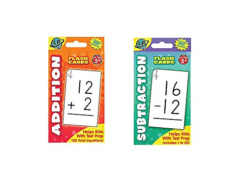 Two (2) Sets FLASH CARDS - Addition & Subtraction -EARLY Learning - Math Skill Aids - FLASH Cards - TEACHER Classroom