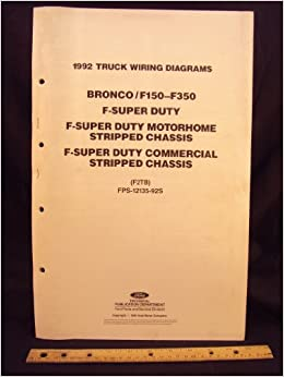 1992 FORD F-150, F250, F350 Series Truck, Bronco, F- Super ... Aen Wiring Diagram on