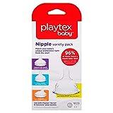 Playtex Nipple Variety Kit, Slow Flow, 4-Count