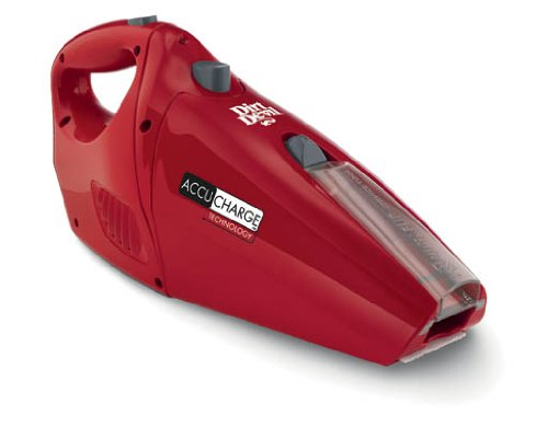 Royal Appliance Hand Vacuum - Dirt Devil Hand Vacuum Cleaner Accucharge 15.6 Volt Cordless Bagless Handheld Vacuum BD10045RED